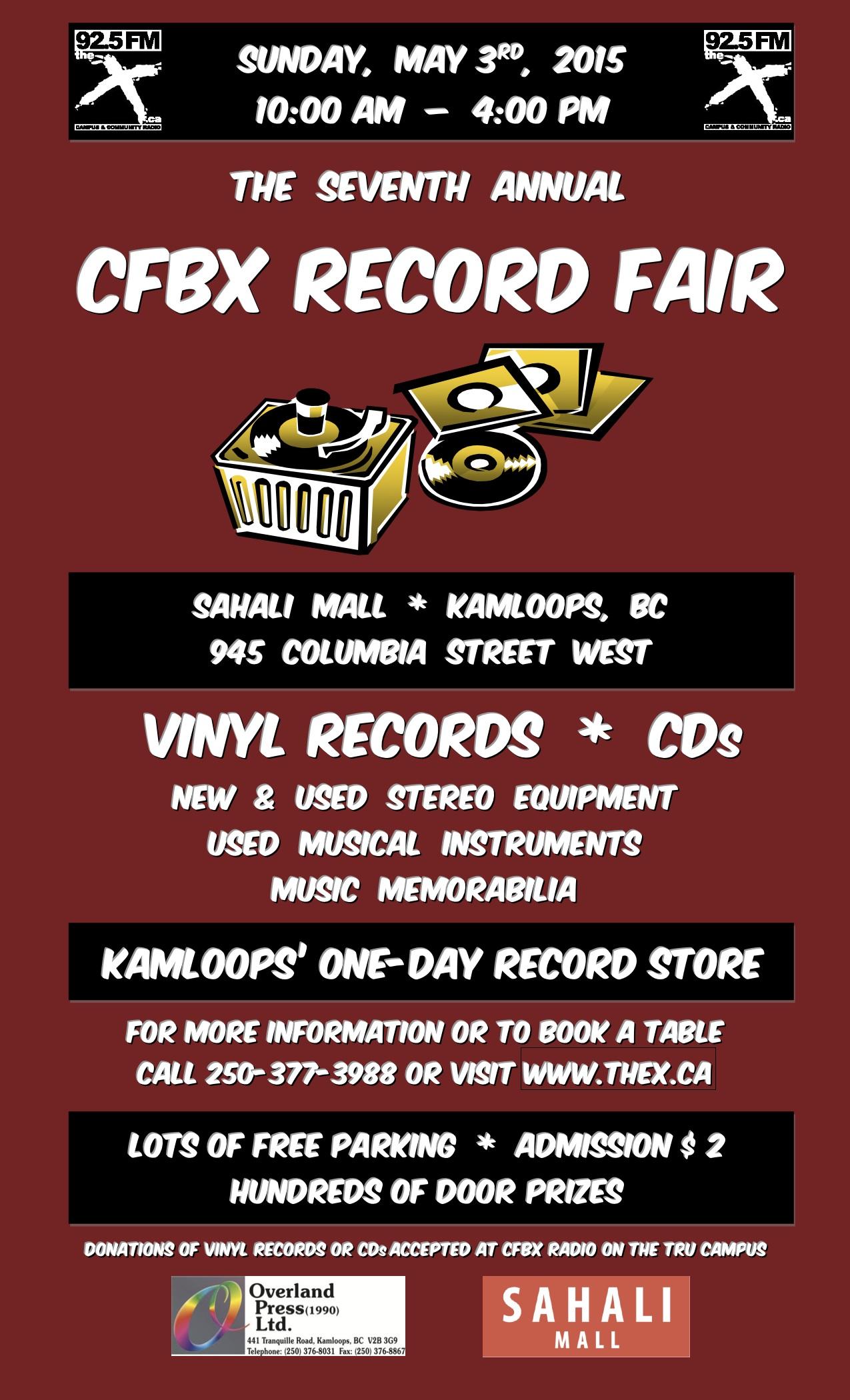 CFBX Record Fair 2015 Poster