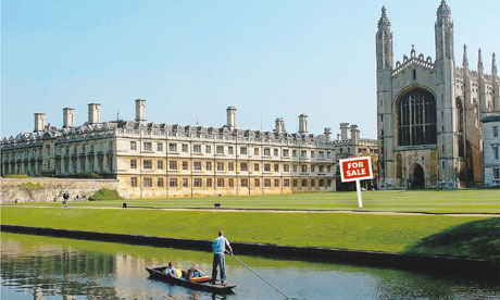 Cambridge University: some university activities may be financed with private cash