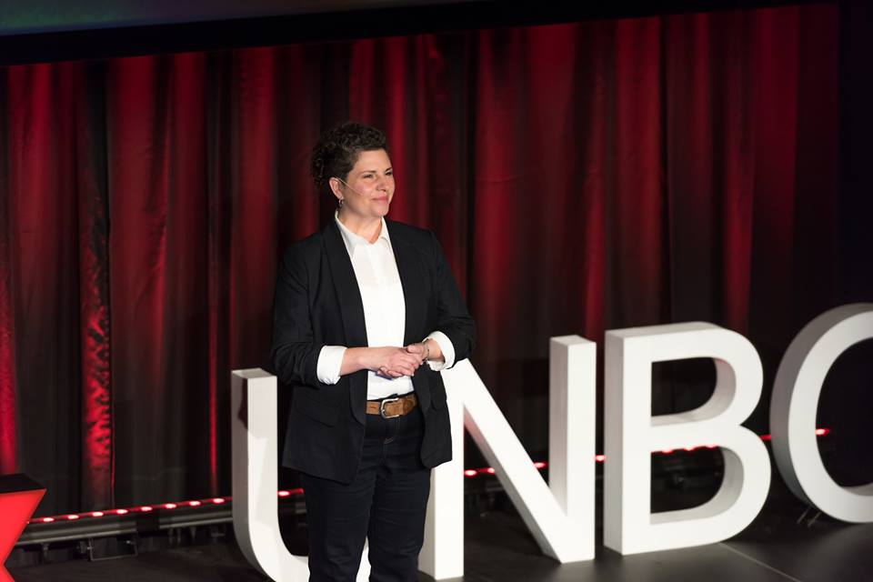 Dahne Harding - TEDxUNBC Speaker- Photo credits - TEDxUNBC Facebook page