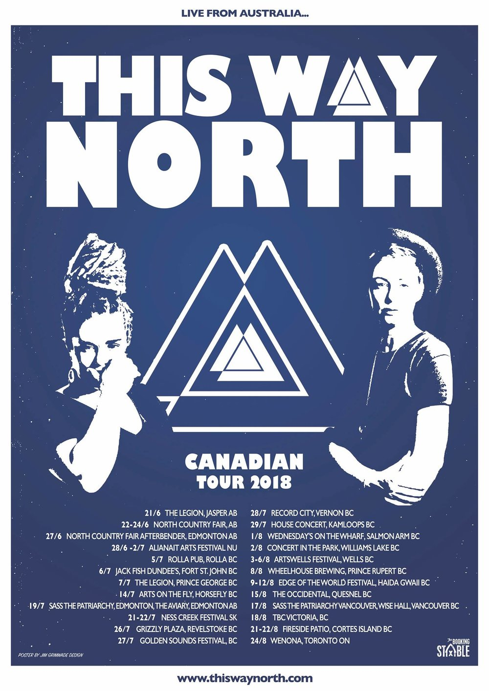 This Way North will be playing at the Legion in PG on Saturday July 7th at 9 PM.