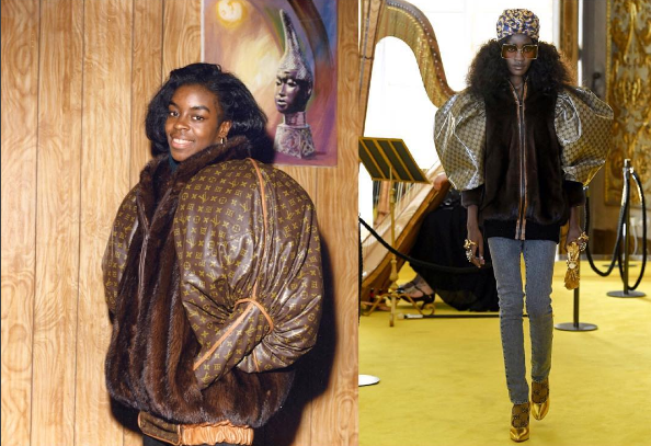 Left: Dapper Dan (1989), Right: Gucci, (2017).