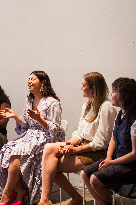 Left to right: Jay Miranda, Lauren Downing Peters, and Rachel Kinnard. Photo: Racheal Pena.