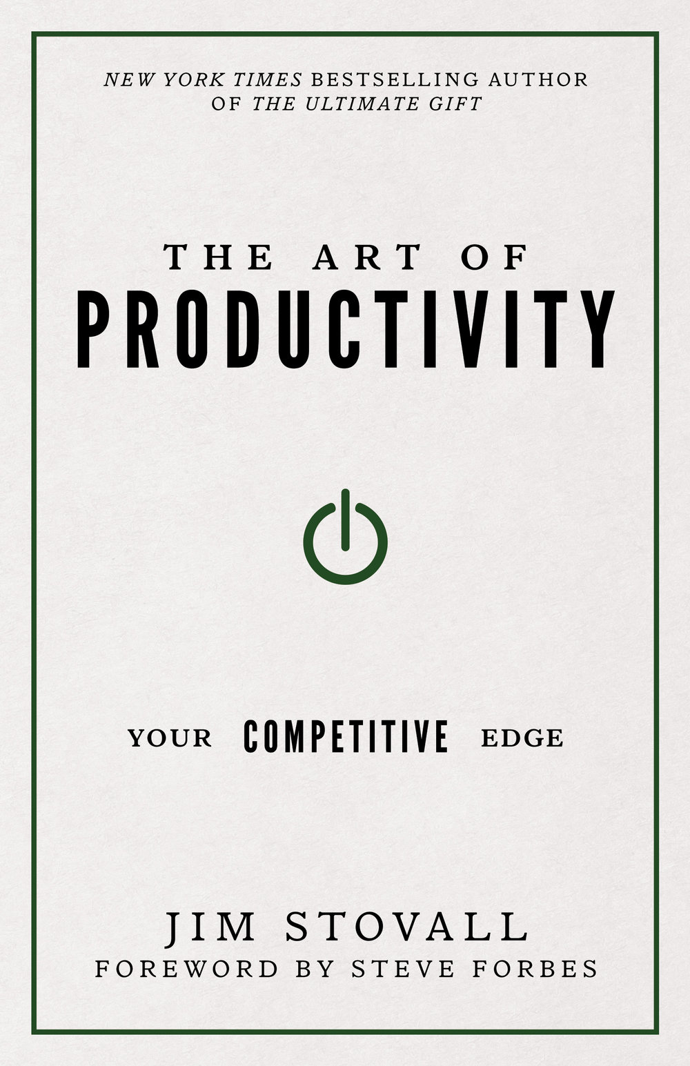 The Art of Productivity - By jim stovall