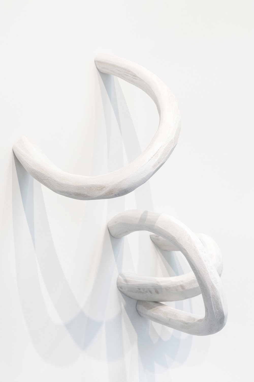 white loops, wood, acrylic, 2017 - variable dimensions