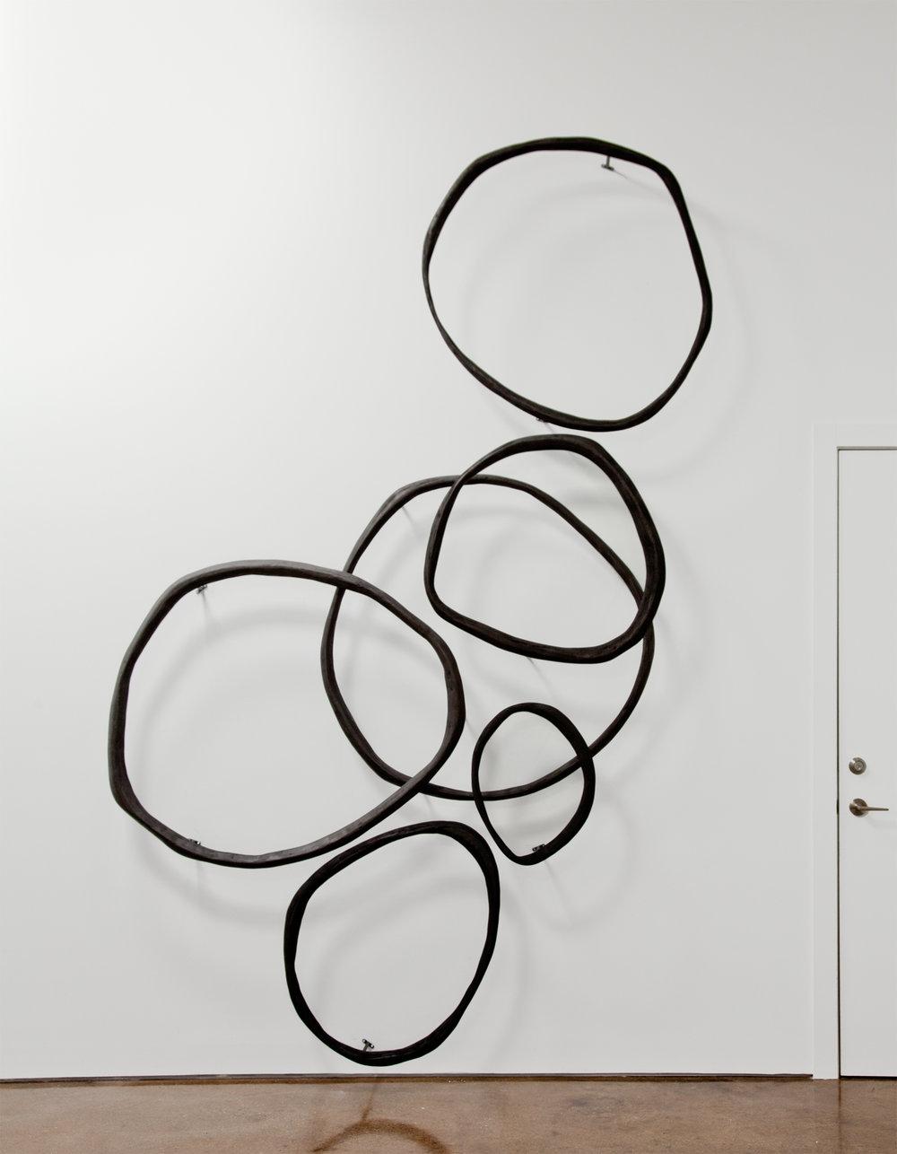 rings - wood, ink - variable dimension - 2018
