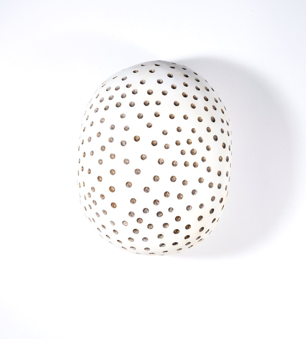 White Form With Dots