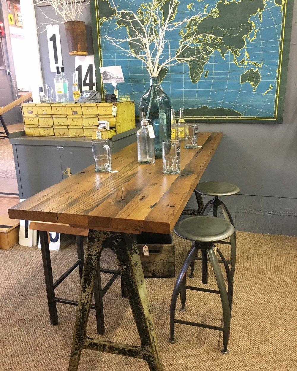 Reclaimed Industrial Bar Table