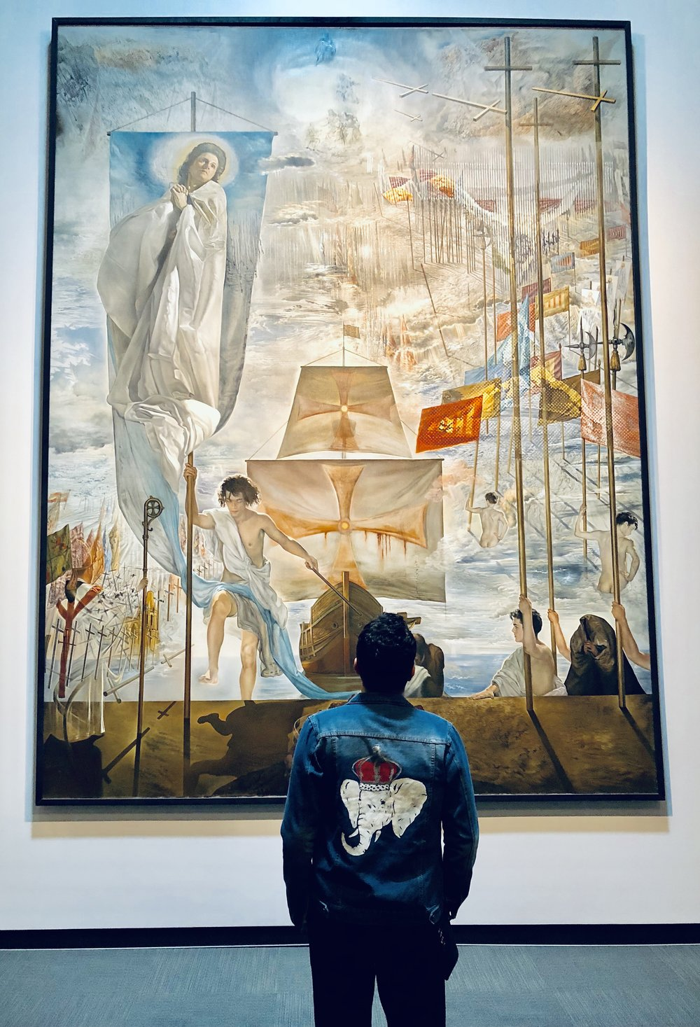 Photo taken at The Salvador Dalí Museum art museum in St. Petersburg, Florida, United States, Denim Jacket by  rebirthe.