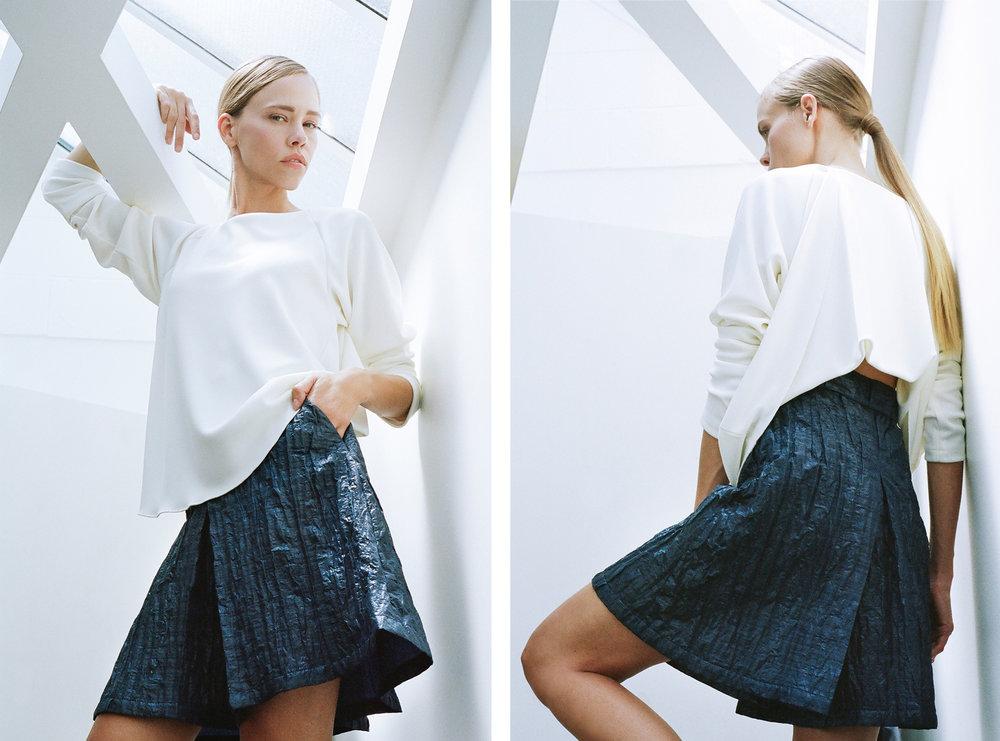 CS-SS16-Britt-Blue skirt on ladder-diptych.jpg