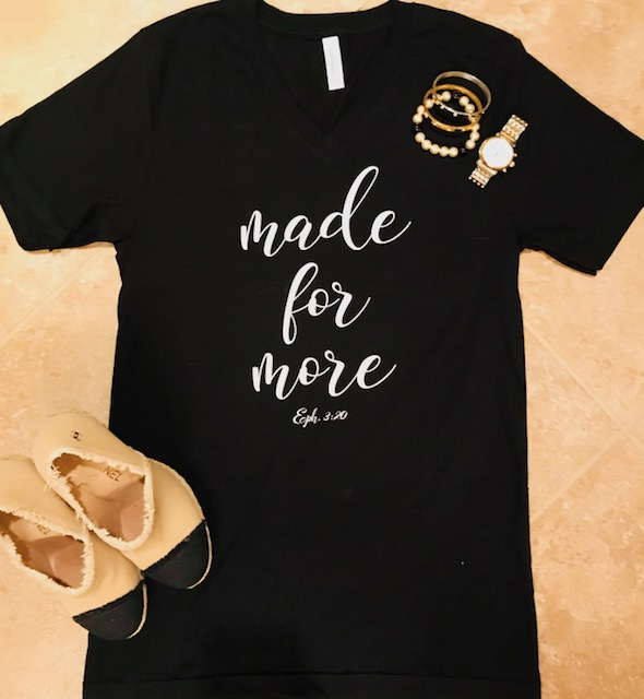 941e56c3 Made for More T-shirt — Shonna Slatten Ministries