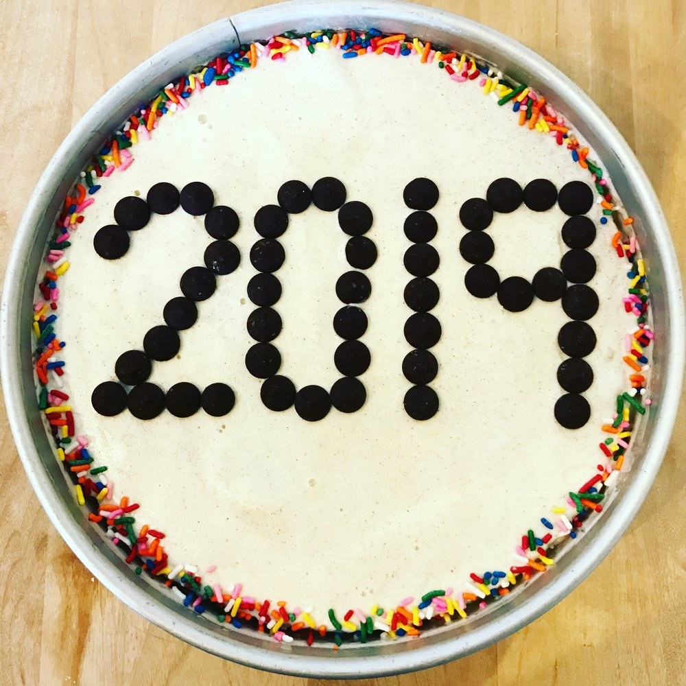 My New Year's Eve ice cream cake - donuts and all. :)