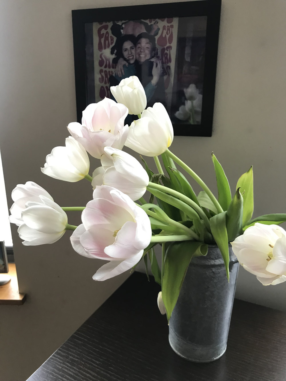 The healing power of the flowers I bought myself for the self-care challenge. Ahhh.