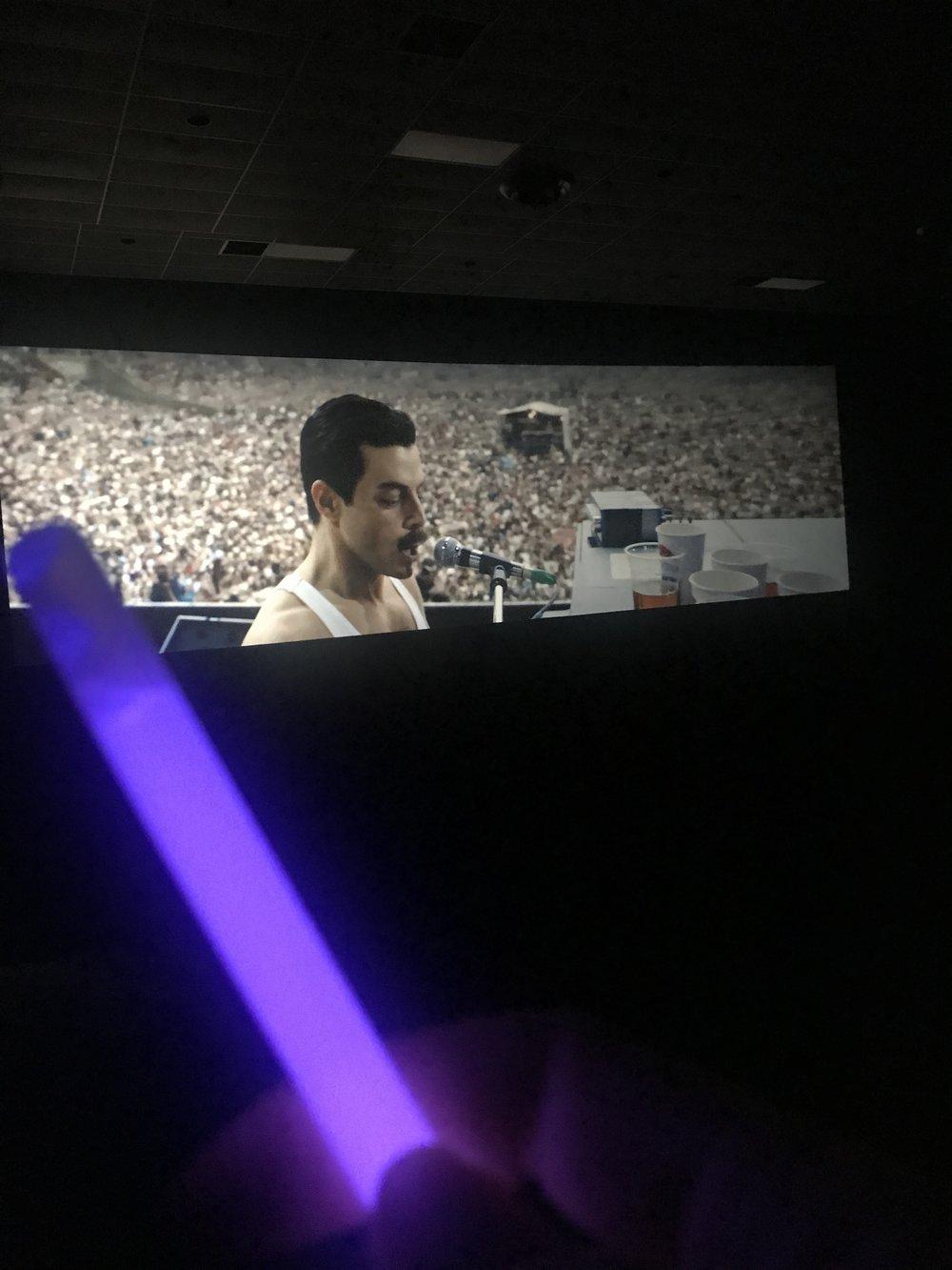 "SAG screening, sing-a-long and glow stick for ""Bohemian Rhapsody!"""