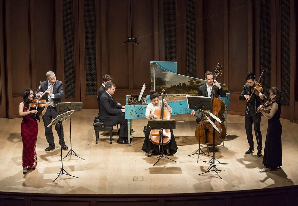 Camerata Pacifica: Bach's Brandenburg Concerto No. 5 at Hahn Hall, Music Academy of the West, Santa Barbara, CA.  Photo by David Bazemore.