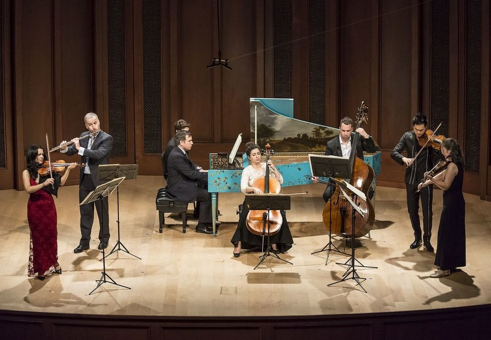 Camerata Pacifica: Bach's Brandenburg Concerto No. 5, at Hahn Hall, Music Academy of the West, Santa Barbara, CA.  Photo by David Bazemore.