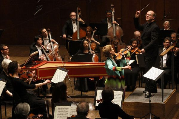 New York Philharmonic, Bach Violin Concerto in E Major, with Bernard Labadie (conductor), Isabelle Faust (violin)
