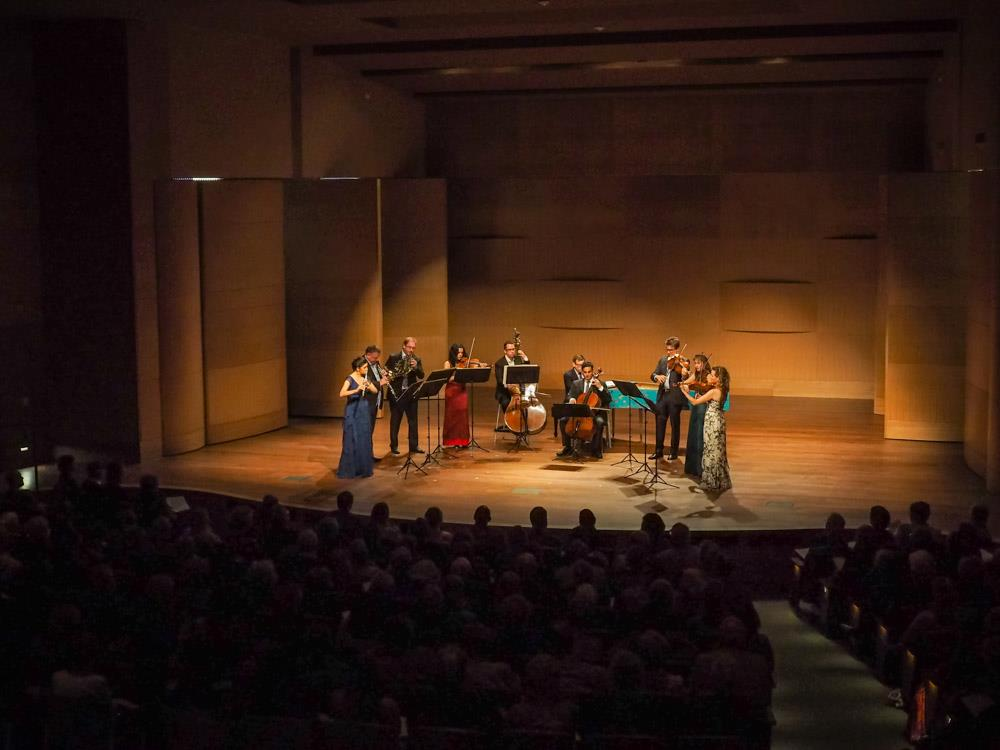 Camerata Pacifica: Bach's Brandenburg Concerti, at the Huntington Library, Pasadena, CA.  Photo by David Bazemore.