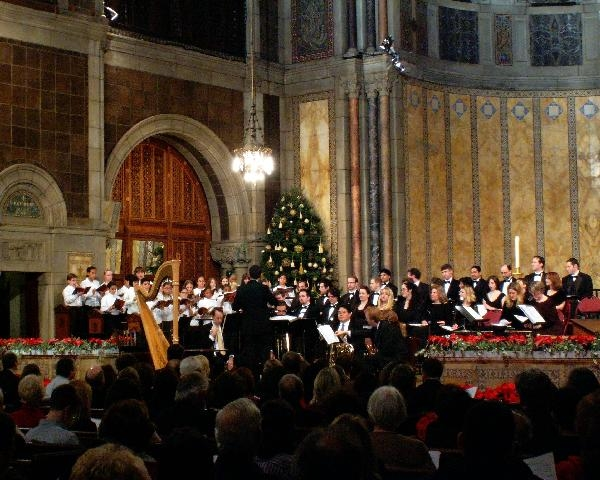 conducting the Boy & Girl Choristers at the 2006 Joyous Christmas Concert