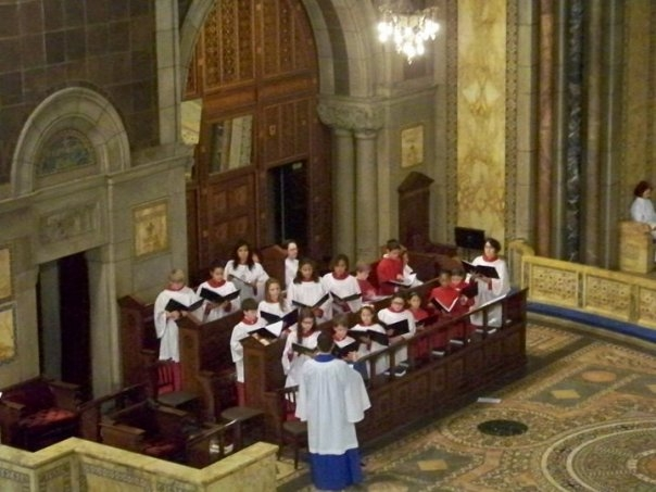 The Boy & Girl Choristers singing Stephen Paulus, 2008 service of Advent Lessons & Carols