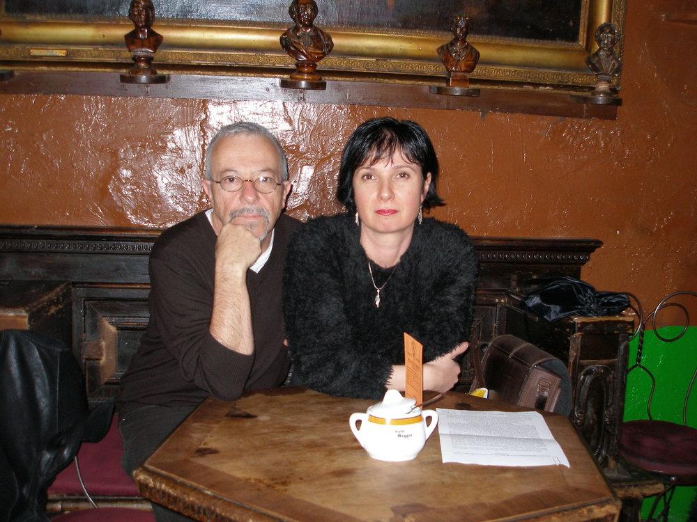 ANdrei codrescu and Ruxandra Cesereanu, Sibiu, 2009