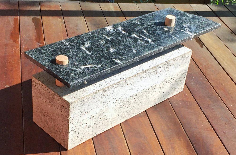 Collectible concrete bench