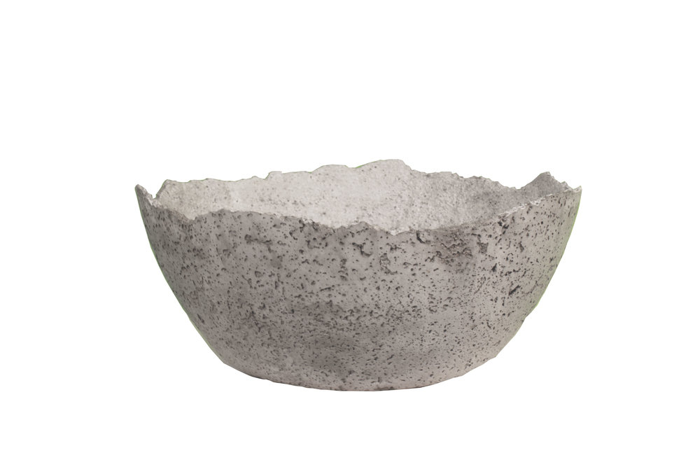 Large concrete bowl - wabi-sabi