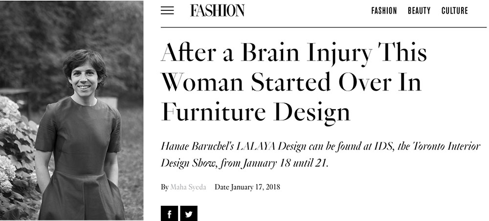 LALAYA Design's founder, Hanae Baruchel, was interviewed by FASHION Magazine in the lead up to Toronto's Interior Design Show. Read all about it  here .