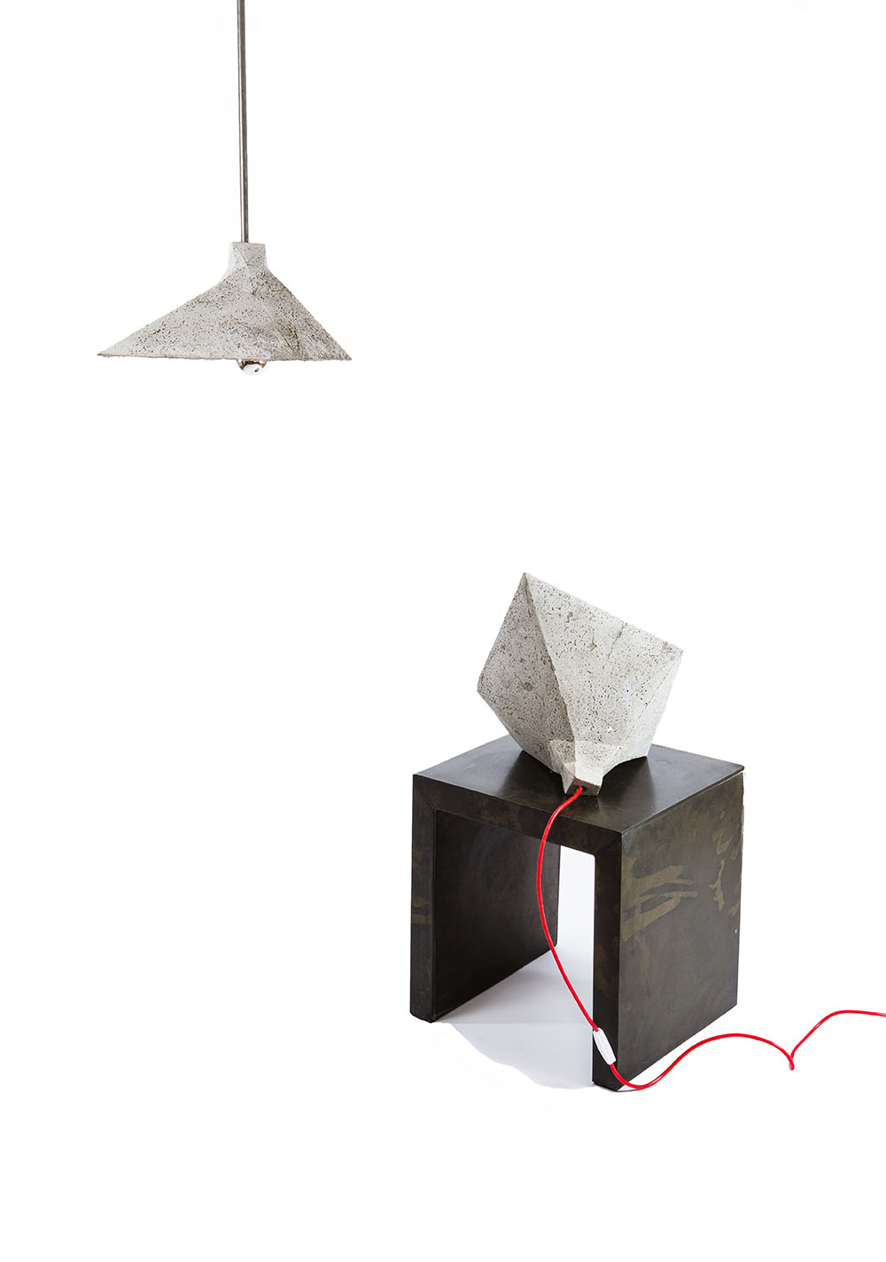 SHADOK concrete table lamp and pendant light