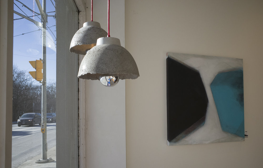 AYÊ concrete pendant light - wabi-sabi