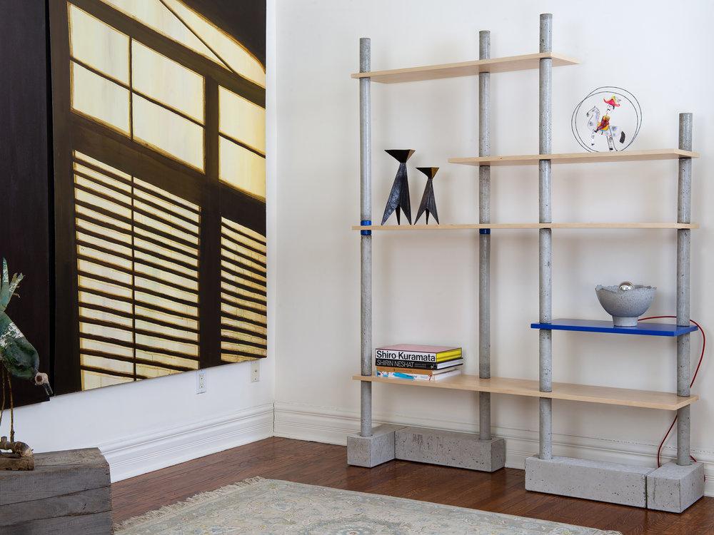 BIM BOM Concrete & maple Bookshelf