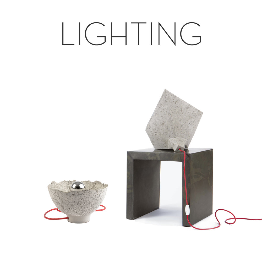 Concrete lamps, fine design, designer table lamps