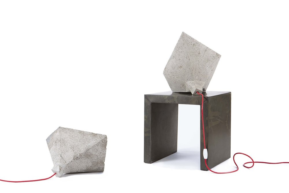 """SHADOK table lamp  Cement 19"""" W x 16 """" D x 8"""" H"""