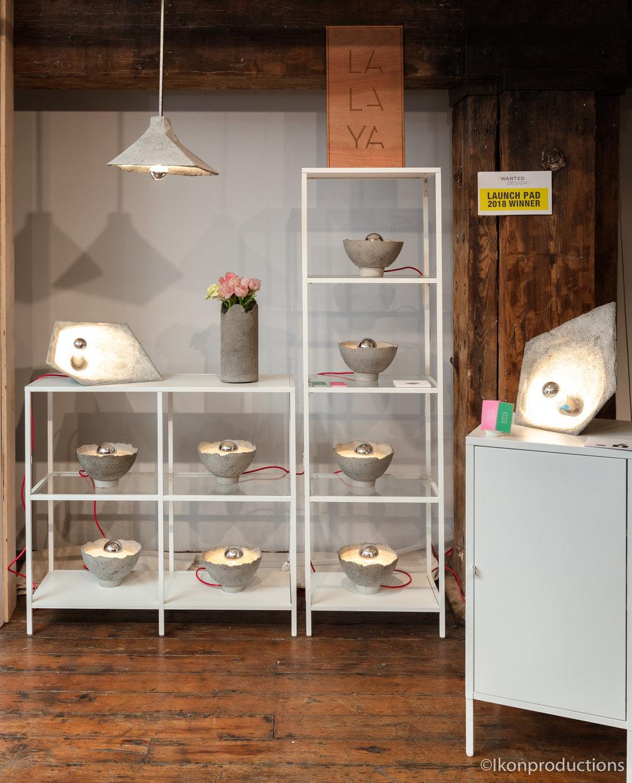 SHADOK concrete lamp display