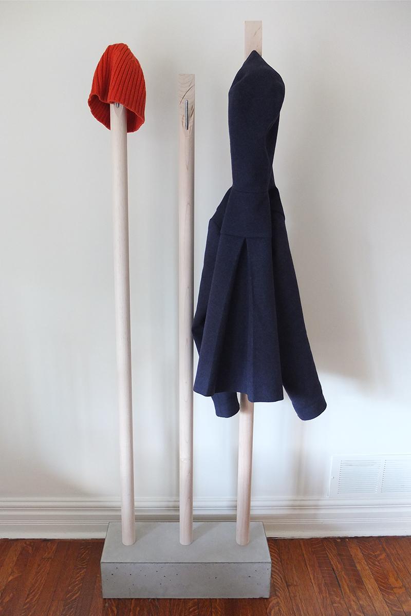 Designer-minmalist-coat-rack-concrete-maple