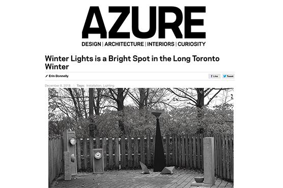 AZURE Magazine - LALAYA Design at Winter Lights Exhibit