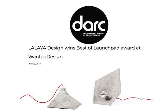 DARC Magazine on LALAYA Design