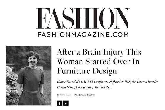 FASHION Magazine writes about LALAYA Design