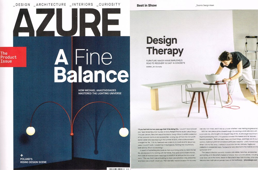 AZURE Magazine - LALAYA Design - Design Therapy