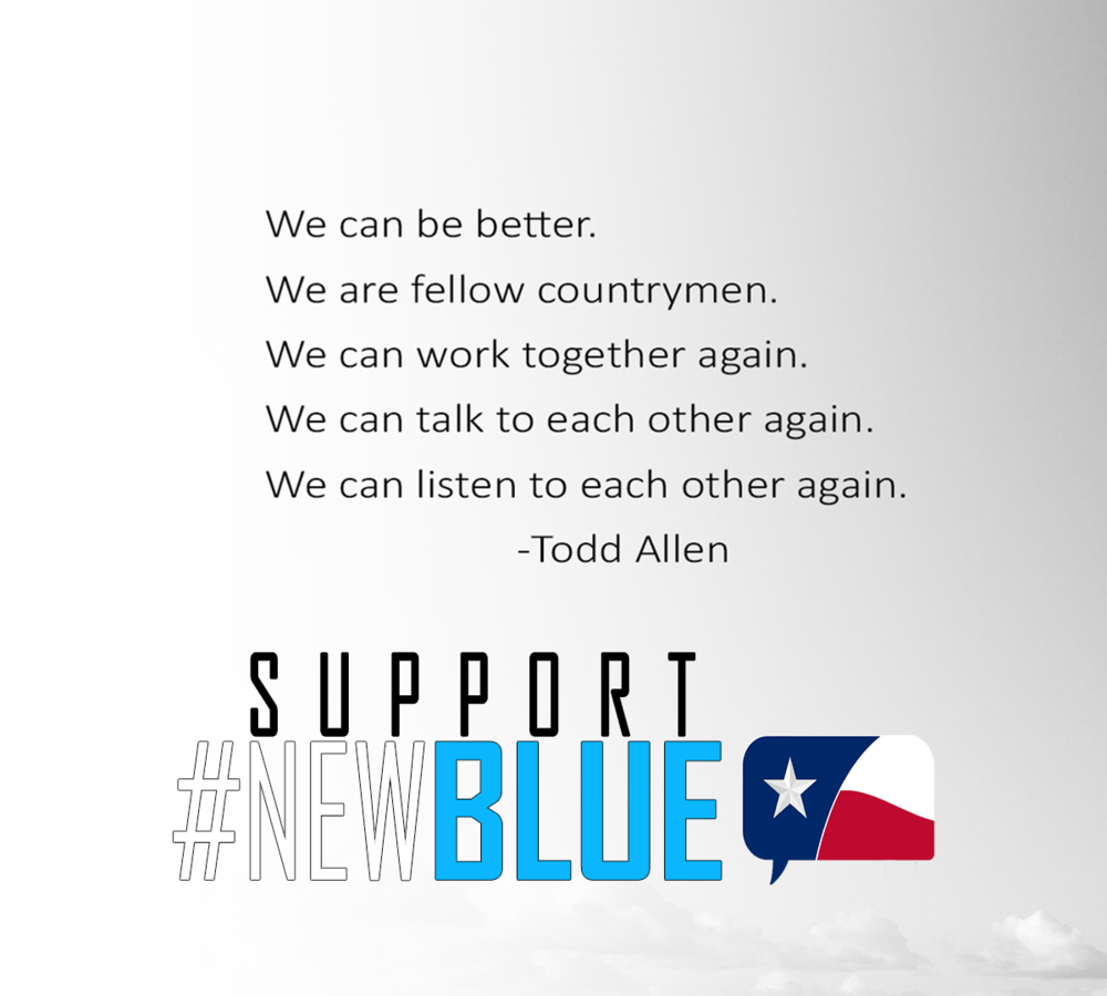 Click to Support Todd Allen and the #NewBlue!