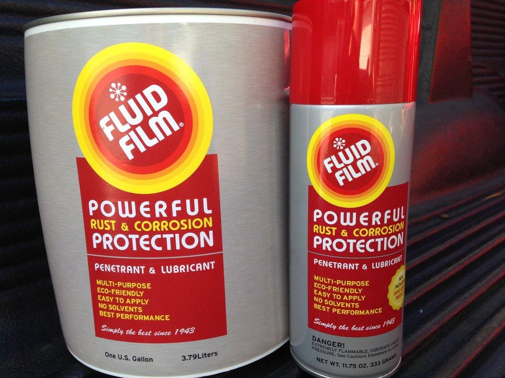 Fluid Film multi-purpose, Eco-friendly Corrosion preventative and lubricant.
