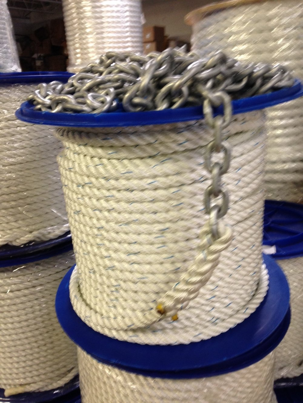 Nylon, double braided, twine, mooring line, mason line, poly, polyester, poly pro, twist and braid, long lengths, multiple sizes, factor direct, tree, dock, boat, ship, anchor, windlass, braid, custom, wire, chain, rigging, fitting, stainless, cable, drop ship