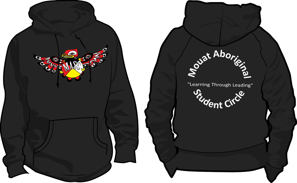 Hoodies concept design for the Mouat Aboriginal Student Circle members.