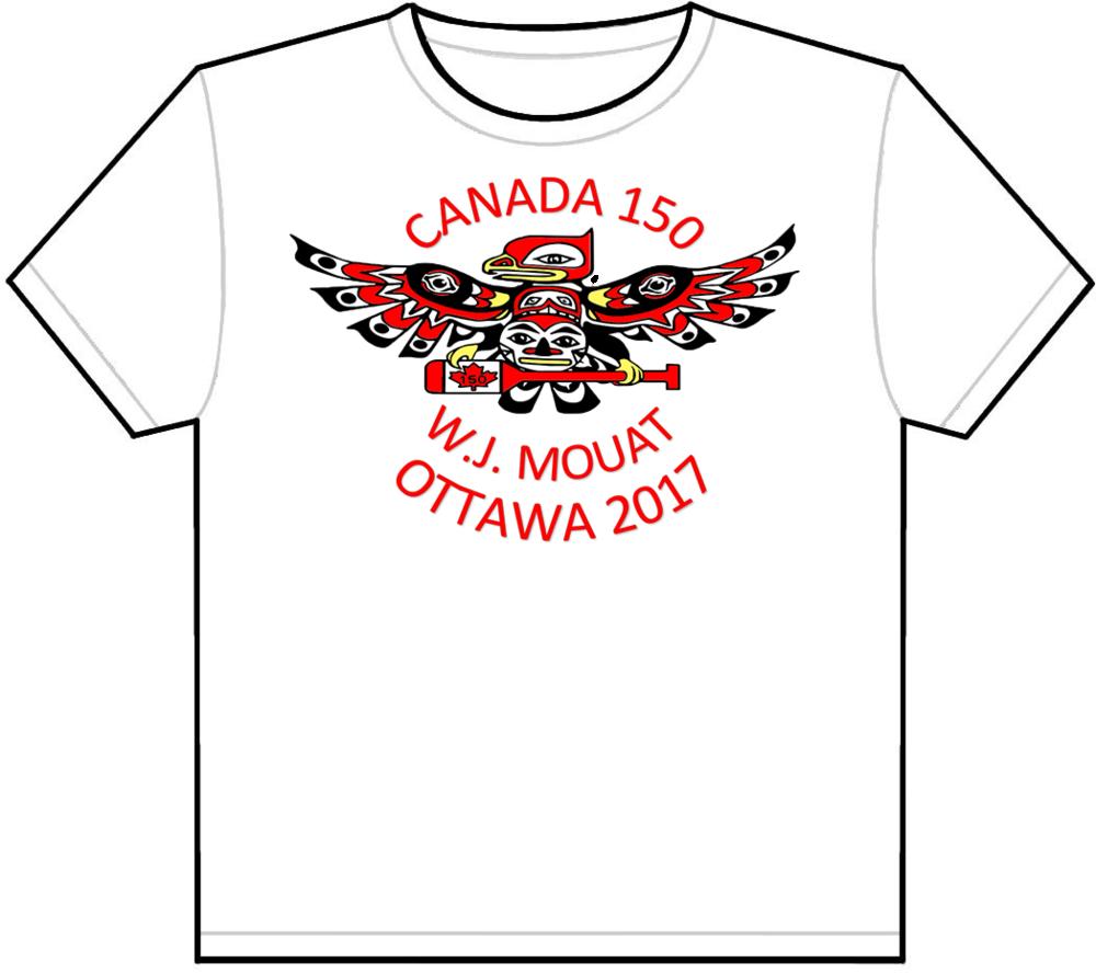 T-Shirt concept design for W.J. Mouat Aboriginal Program's fieldtrip to Ottawa.