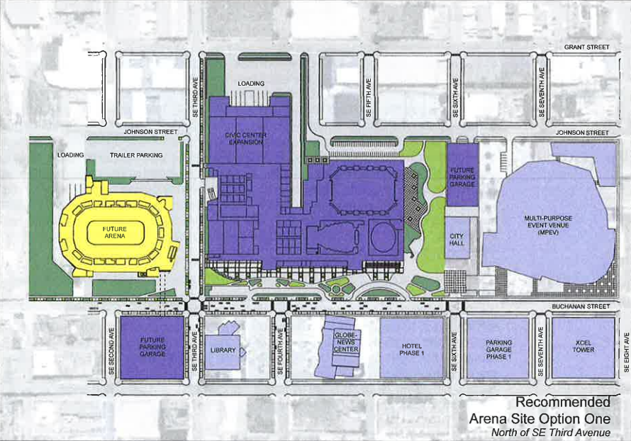 Master Plan Calls for Civic Center Expansion Across Johnson Street