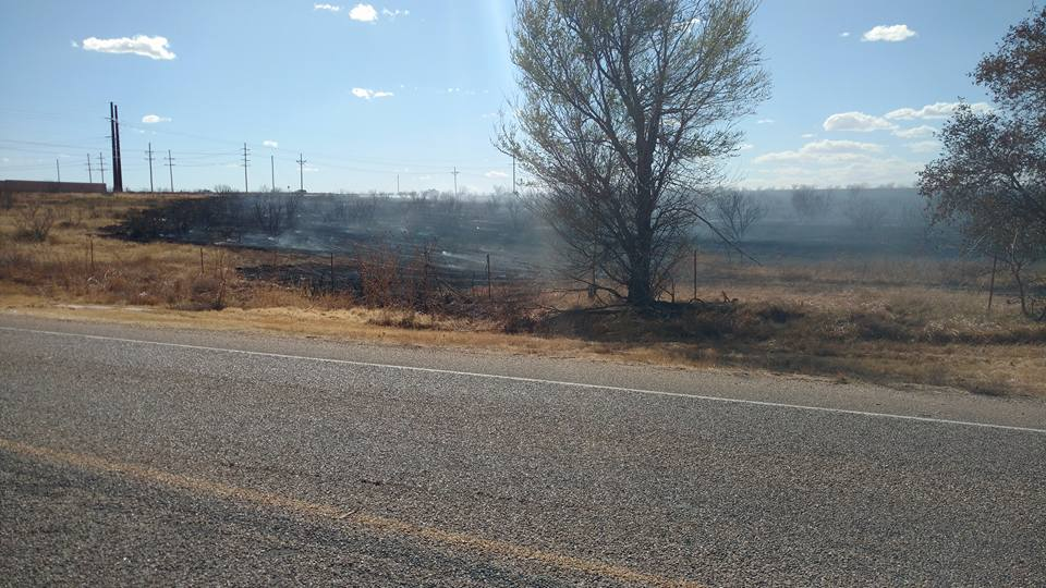 Aftermath of the Hastings fire  Photo by Amarillo Fire Dept.