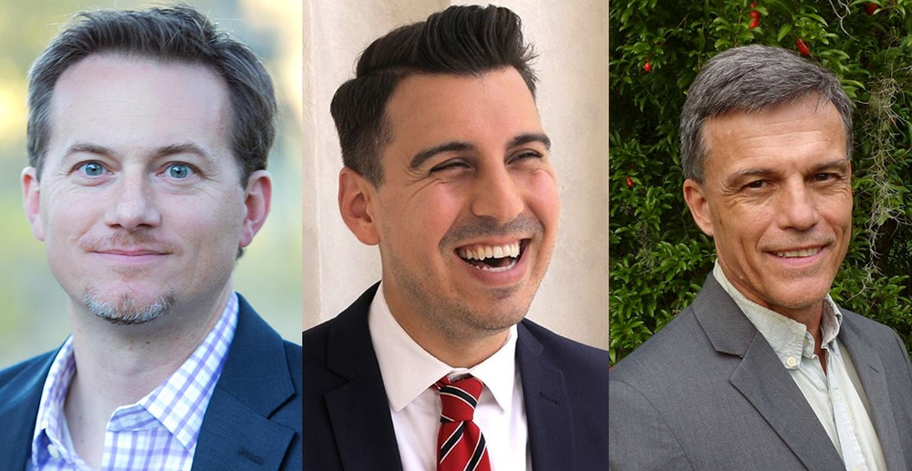FROM LEFT: Michael Cloud, Eric Holguin, Daniel Tinus  Photos by Campaigns