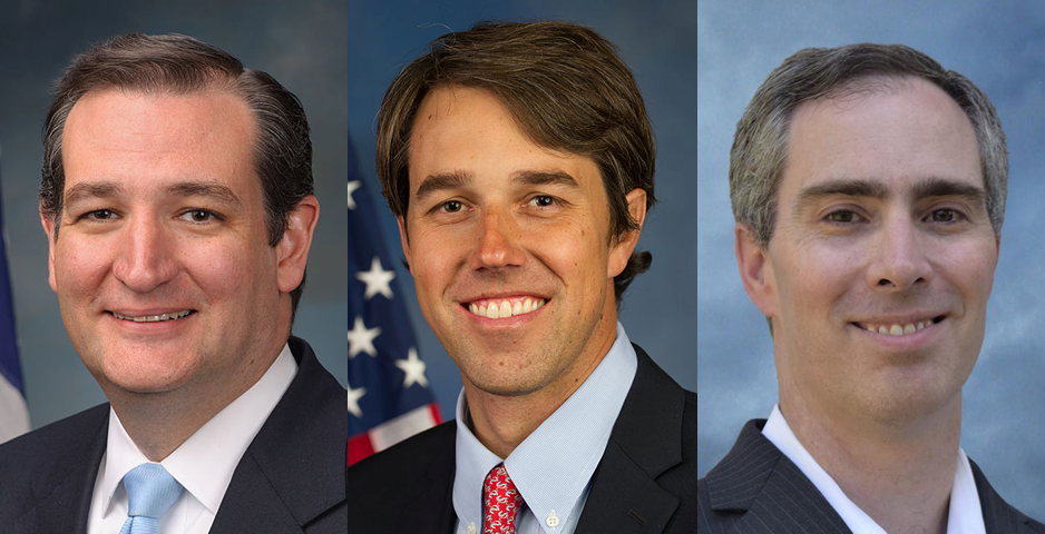 Cruz, O'Rourke, Dikeman  Photos from campaigns