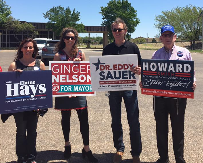 Council incumbents campaign in 2017  Photo by Sauer Campaign