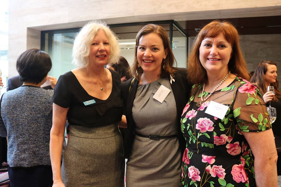 Minister Genter (MIDDLE) is pictured with auCKLAND YWCA CHIEF EXECUTIVE, MONICA BRIGGS (LEFT); and EY's Susan Doughty.