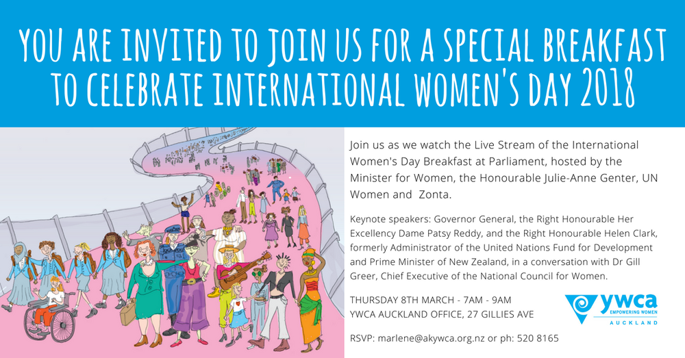 YWCA Auckland International Women's Day Breakfast